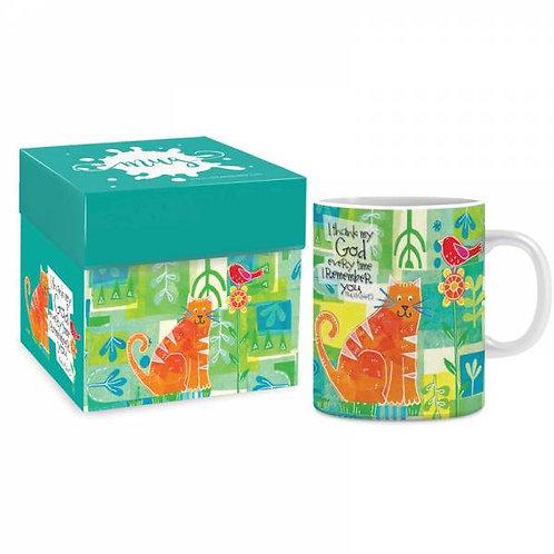 I Thank My God Christian Mug in Gift Box