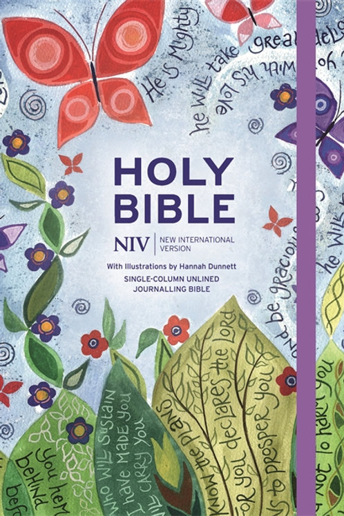 NIV Holy Bible with Illustrations by Hannah Dunnett Hardback Cover