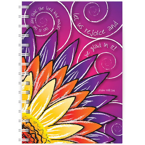 Let Us Rejoice A5 Wirebound Christian Notebook