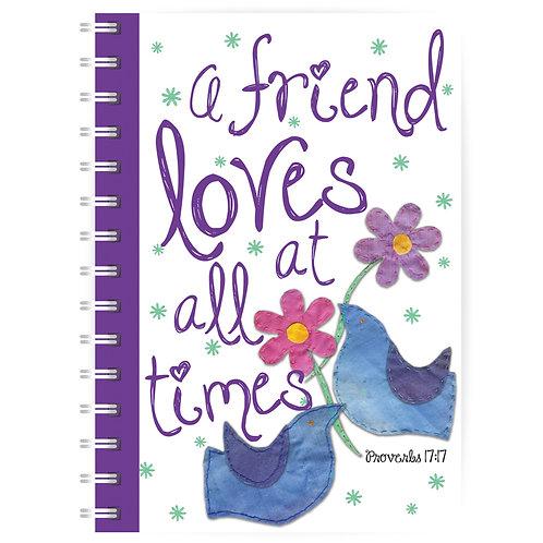A Friend Loves A5 Wirebound Christian Notebook