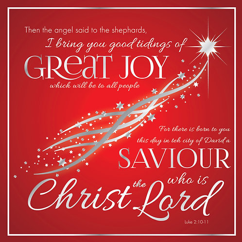 Great Joy Luxury Christian Christmas Cards