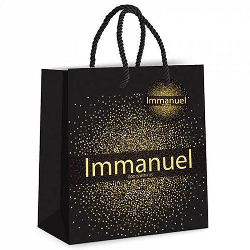 Immanuel God is with Us Christian Christmas Gift Bag
