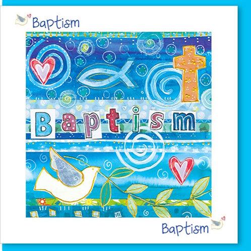 Baptism Dove Christian Greetings Card
