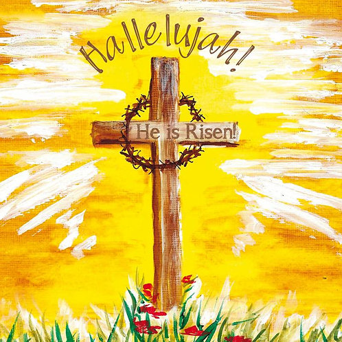 Hallelujah Cross and Crown Christian Easter Cards