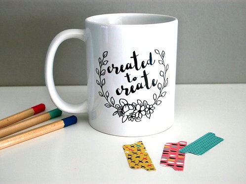 Created To Create Mug for Bible Journaling Fans And Creatives