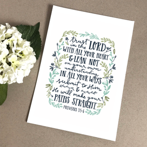 Trust In The Lord A5 Christian Artwork Print