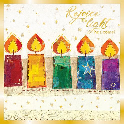 Rejoice The Light Luxury Christian Christmas Cards