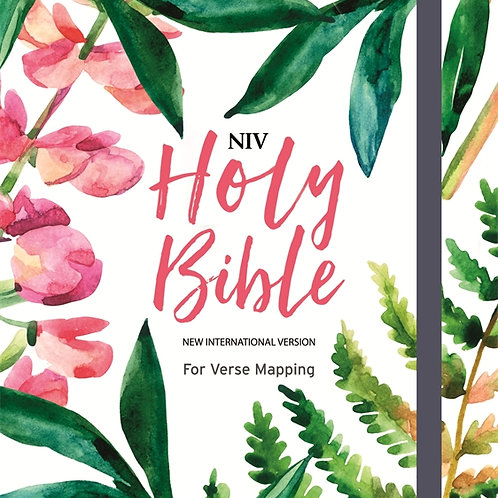 NIV Holy Bible For Journaling and Verse Mapping Hardback Floral Cover