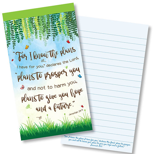 For I Know The Plans Jotter Notepad