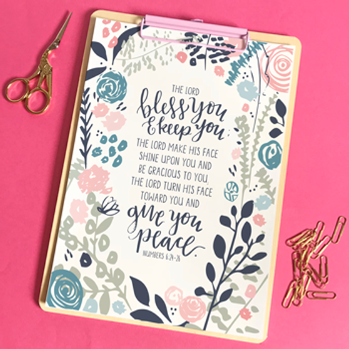 The Lord Bless You A5 Christian Artwork Print