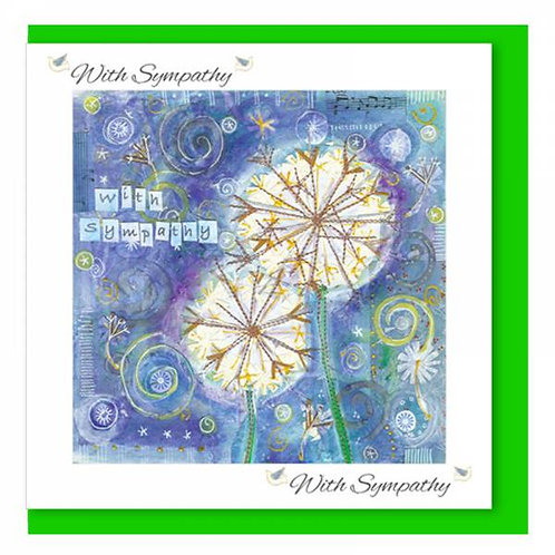 With Sympathy Dandelion Christian Greetings Card
