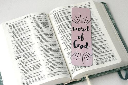 Word Of God Pastel Pink Mini Metal Bookmark