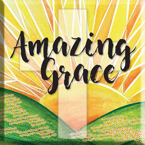 Amazing Grace Christian Fridge Magnet