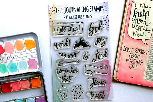 Trust Jesus Bible Journaling Stamps Set of 15