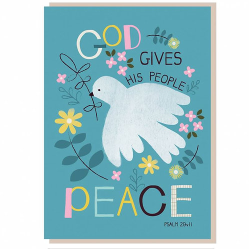 God Gives His People Peace Christian Greetings Card