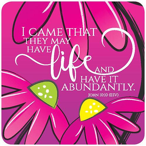 Abundant Life Christian Coaster