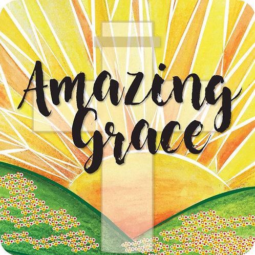 Amazing Grace Christian Coaster