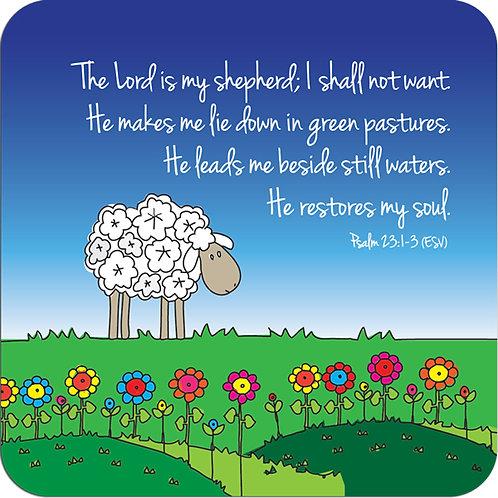 Psalm 23 Christian Coaster