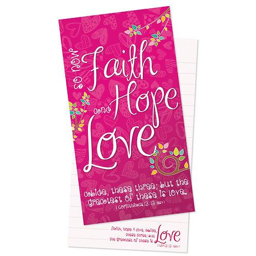 Faith Hope Love Jotter Notepad