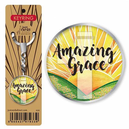 Amazing Grace Christian Keyring