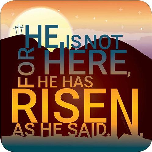 He Has Risen Christian Coaster