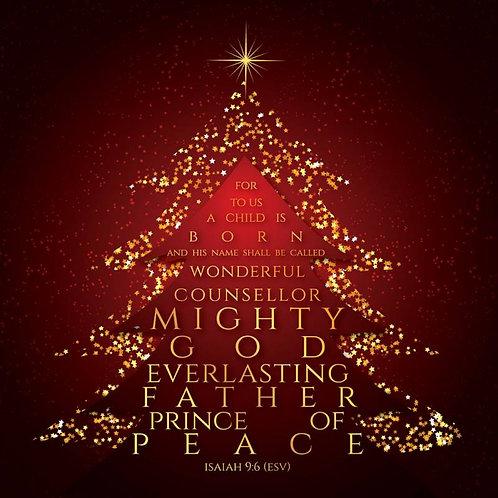 Mighty God Luxury Christian Christmas Cards