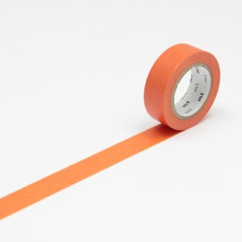 mt Ninjin Orange Washi Masking Tape 10m Single Roll