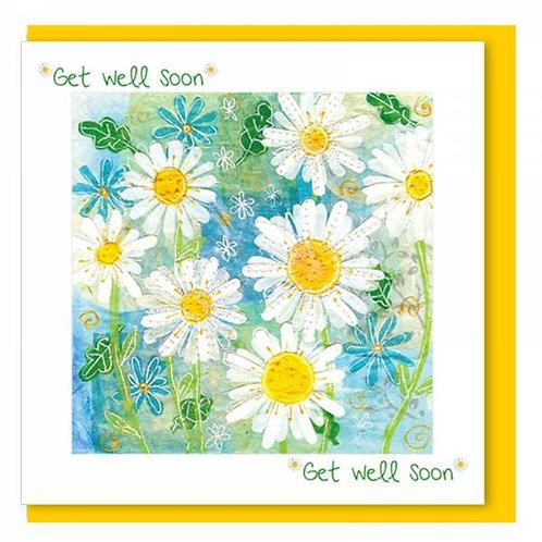 Get Well Soon Daisy Christian Greetings Card