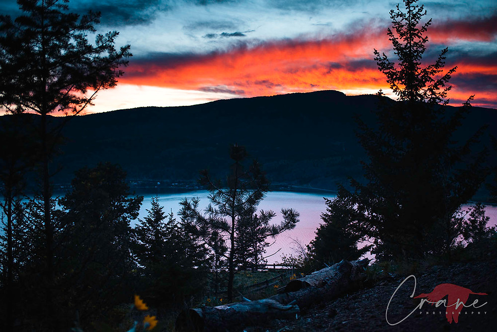 Okanagan Sunset from Knox Mountain