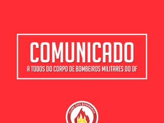 COMUNICADO AOS BOMBEIROS MILITARES
