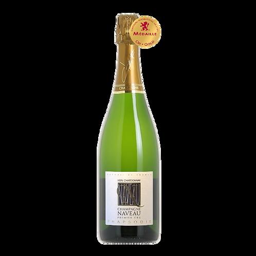 Rhapsodie Blanc de Blancs Chardonnay Naveau Champagne Brut 1er Cru Best Champagne in the World Vintage Millésime