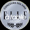 Concours des Vins Elle a Table Silver Medal Naveau meilleur champagne best