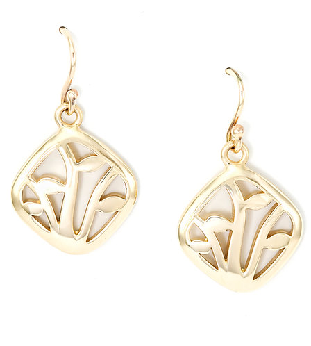 Gold Winter Vine Earrings