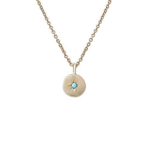 Gold and Turquoise Star Set Necklace