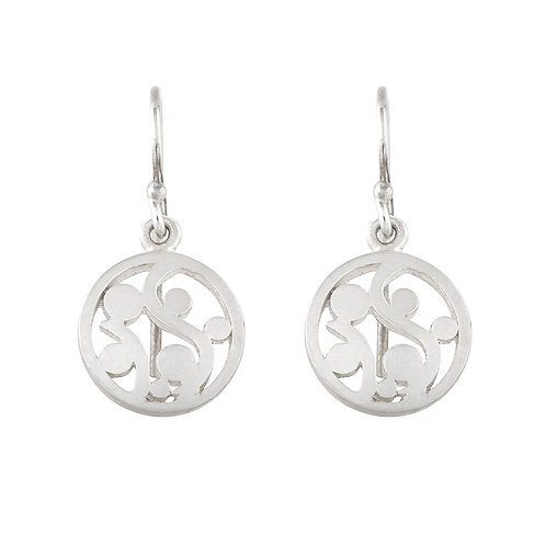 Silver Scroll Earrings