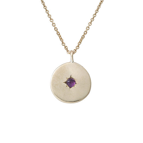 Gold and Amethyst Star Set Necklace