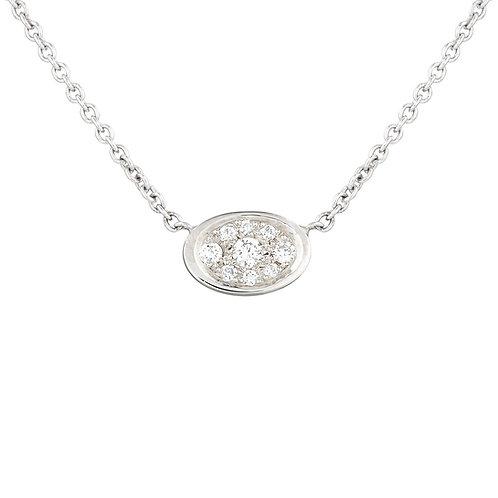 Lunar Diamond Spot Necklace