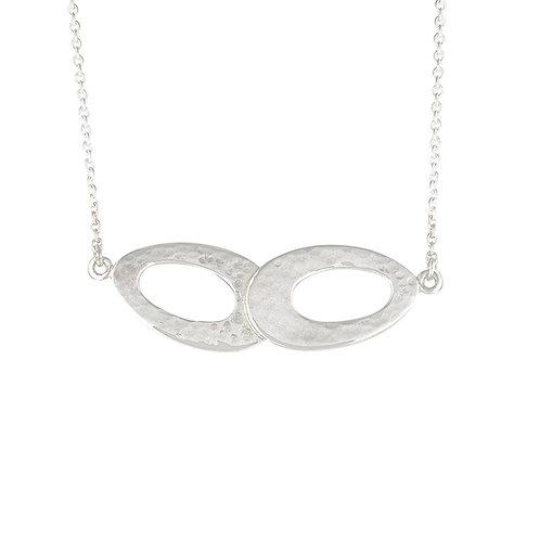 Silver Double Ellipse Necklace