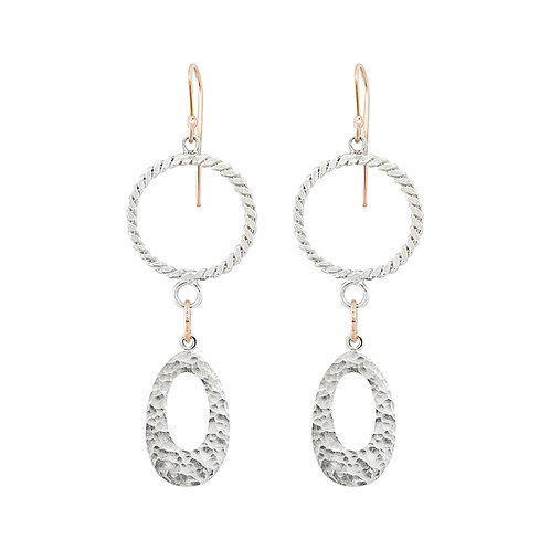 Rope Drop Ellipse Earrings