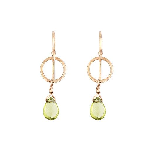 Rustic drop earrings