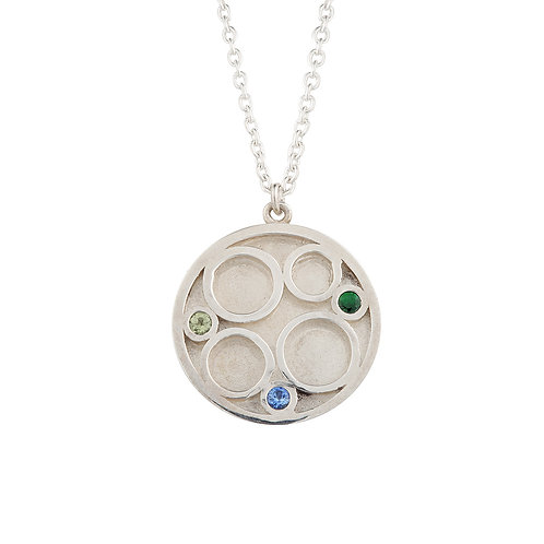 Circle Inlay Necklace