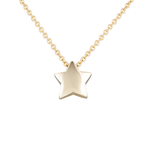 Gold chubby star necklace
