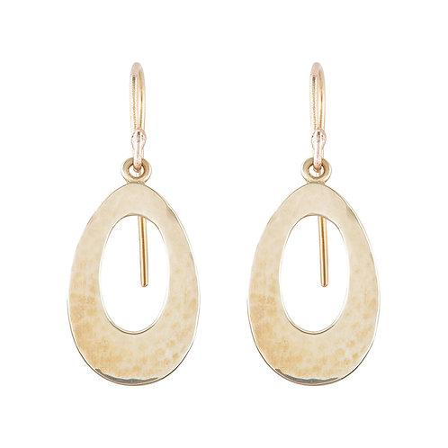 Yellow Gold Ellipse Earrings