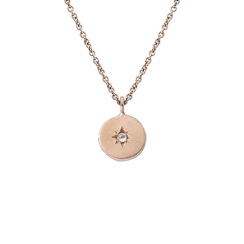 Rose Gold and Diamond Star Set Necklace