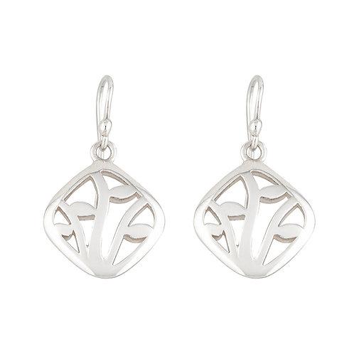 Silver Winter Vine Earrings