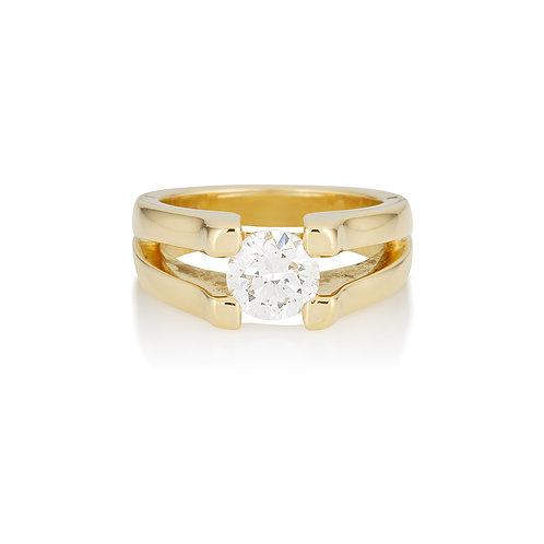 Jean Split Diamond Ring