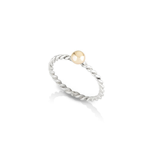 Molten Ball Twisted Band Ring
