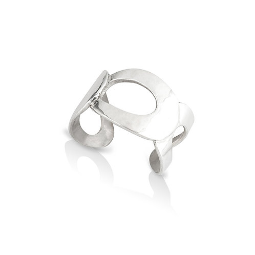 Silver Ellipse Ring