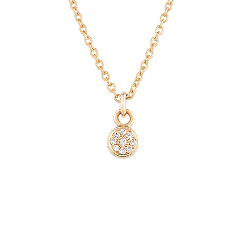 Rose Gold Diamond Spot Necklace