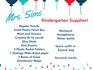 Supply Lists!